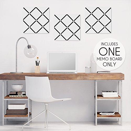 Sweet Jojo Designs White and Black Hotel Fabric Memory/Memo Photo Bulletin Board by Sweet Jojo Designs (Image #1)