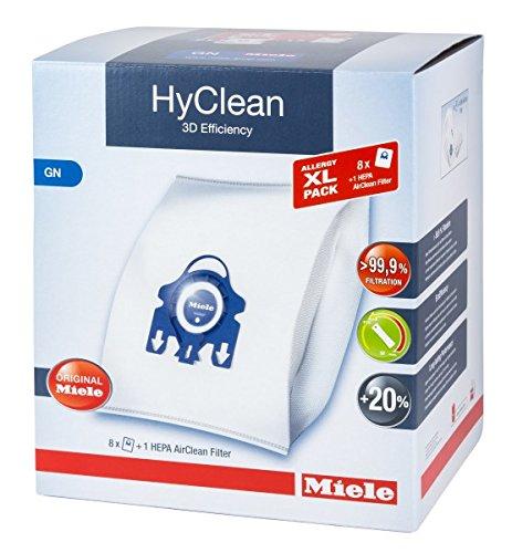 Miele XL Pack - 8x Miele Hyclean 3D GN Vacuum Bags +1 Miele Hepa Filter SF-HA 50 by Miele