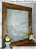 Renewed Décor Farmhouse Mirror in 20 stain colors - Stained Mirror - Large Wall Mirror - Rustic Modern Home - Mirror - Home Decor - Housewares - Woodwork - Frame