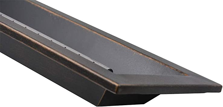 Oil Rubbed Bronze Skyflame Classic Black 30 x 6 Stainless Steel Linear Drop-in Fire Pit Pan and Burner