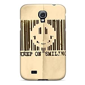 Premium Protection Keep On Smiling Cases Covers For Galaxy S4- Retail Packaging