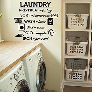 Pegatina Normas del lavado cuarto de lavadora secadora casas ...