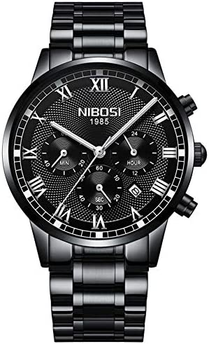 新しい男性腕時計ステンレス鋼高品質ウォッチファッションアナログスポーツクォーツ腕時計