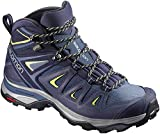 Salomon Women's X Ultra 3 Mid GTX Hiking Boots, Crown Blue/Evening Blue/Sunny Lime, 7