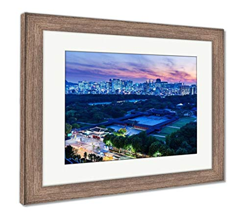 - Ashley Framed Prints Historical Grand Palace in Seoul City, Wall Art Home Decoration, Color, 34x40 (Frame Size), Rustic Barn Wood Frame, AG5888122