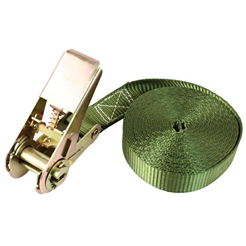 Travel Luggage Band Metal Ratchet Tie Down Strap 5M 16ft Green by uxcell