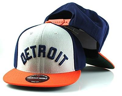 MLB American Needle Scripteez Cooperstown Wool Adjustable Snapback Hat (Detroit Tigers)