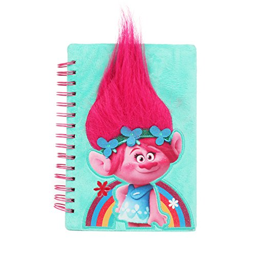(UPD Fun89 Universal Trolls Poppy Pink 3D Journal with Hair for Girls, Multicolor)