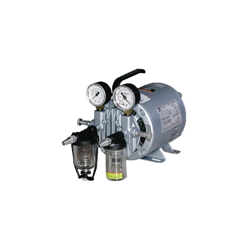 Vacuum Pump, Rotary Vane, 1/6 HP, 20 In HG