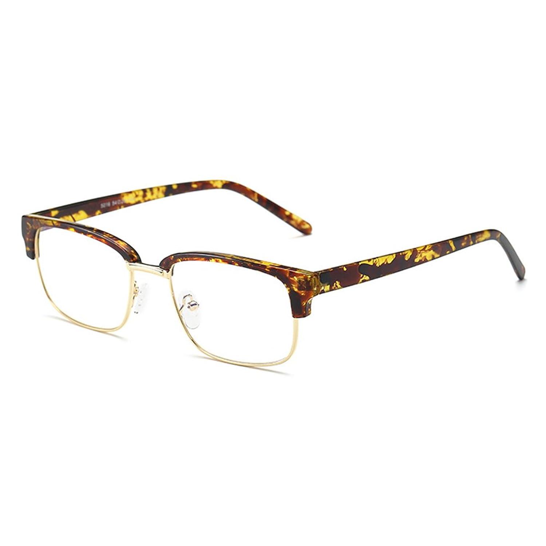 45a7c17d51 Hombres Vidrios Rectangulares - TR90 Marco Ultra-ligero Anti Azul Claro  Lente Gafas Marco para