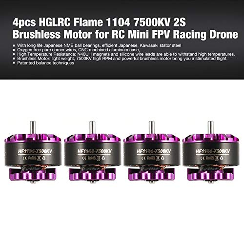Wikiwand 4pcs HGLRC Flame 1104 7500KV 2S Brushless Motor for RC Mini FPV Racing Drone