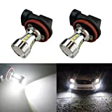 audi a4 b8 headlight bulbs - iBrightstar Newest 9-30V Extermely Bright Low Power H11 H8 LED Bulbs with Projector replacement for Fog Lights OR DRL,Xenon White