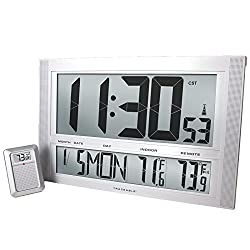 Control 1087 Traceable Giant-Digits Radio Atomic Clock with Ambient/Remote Temperature