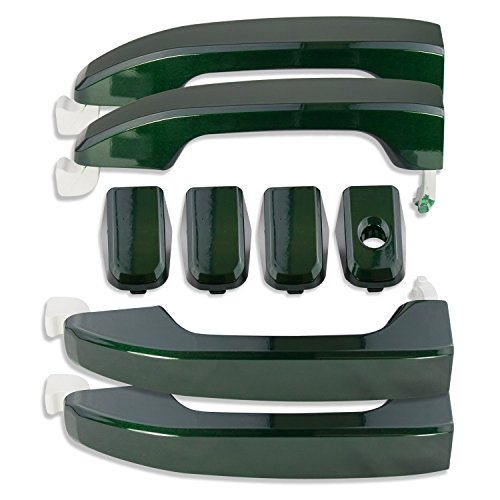 Handle Green Rainforest - American Brother Designs ABD-1403G7J Rain Forest Green Silverado/Sierra Door Handles (Set of 4) No Logo