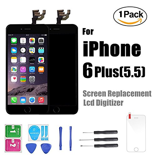 Cheap Replacement Parts iPhone 6 Plus 5.5 inch Screen Replacement Black Home Button For iPhone..