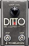 #10: TC-Helicon 996365005 Ditto Mic Looper Pedal for Electric Guitar with XLR Micrphone Cables