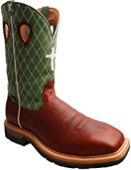 Twisted X Mens Lime Lite Cowboy Work Boot Composite Toe - Mlcsm01