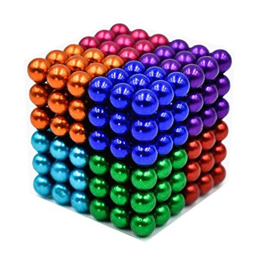 216 Pieces 8 Colors 5MM DIY Magnets Toys Magnet Sculpture Building Blocks Magnetic Fidget Gadget Toys Set for Stress Relief ,Office and Home Desk Toys