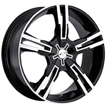 Platinum Saber 17 Black Wheel / Rim 5x110 & 5x115 with a 42mm Offset and a 73 Hub Bore. Partnumber 292-7710B