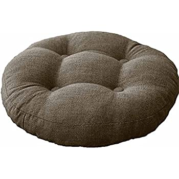 This Item VClife Khaki Round Chair Pad Indoor Outdoor Bistro Chair Cushion  Decorative Decor Cotton Linen Floor Pillows For Home Office School Car ...