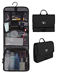 BAGSMART Travel Hanging Cosmetic Organizer Toiletry Bags Makeup Case