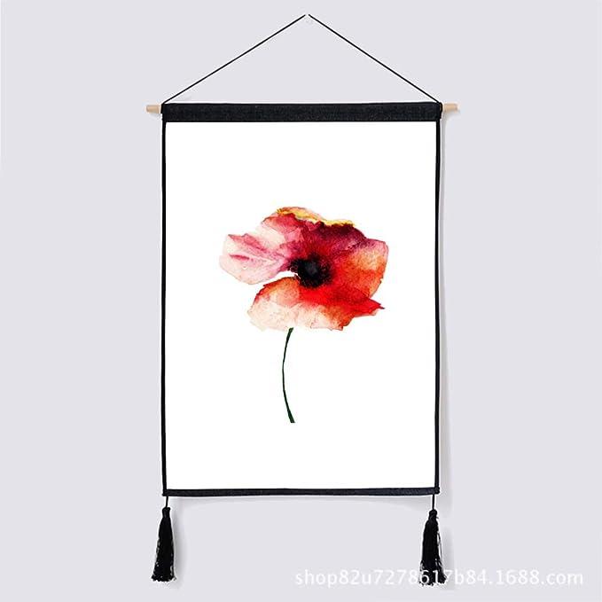 mmzki Nórdico Hermoso Creativo Flor Pintura Moderna Minimalista Sala de Estar Oficina Pintura Restaurante decoración Pintura Q 46 * 65 cm: Amazon.es: Hogar
