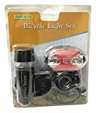 Creative Motion 14108-1 2 Lights In 1 Bicycle Light Set with Front Light & Back Blinking Light For SAFETY