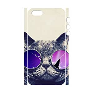 Custom Animal Galaxy Hipster Cat dibujos animados retro Funny Pattern Case For iPhone 5S 3d Case