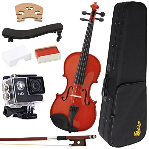 kaizer-vln-1000-reliable-student-violin-1000-series-standard-4-4-size-varnished-finish-with-included