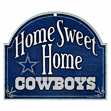 NFL Dallas Cowboys 10-by-11 inch Wood  Home Sweet Home  Sign