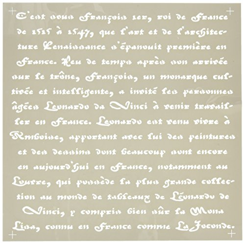 (DecoArt Americana Decor Stencil, Old French Script)