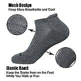 LITERRA Mens Ankle Socks 6 Pack Low Cut Athletic