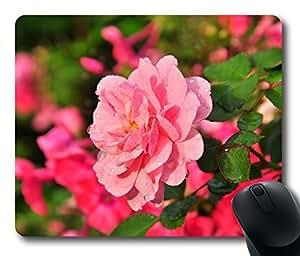 Design Beautiful Pink Rose Mouse Pad Desktop Laptop Mousepads Comfortable Office Mouse Pad Mat Cute Gaming Mouse Pad