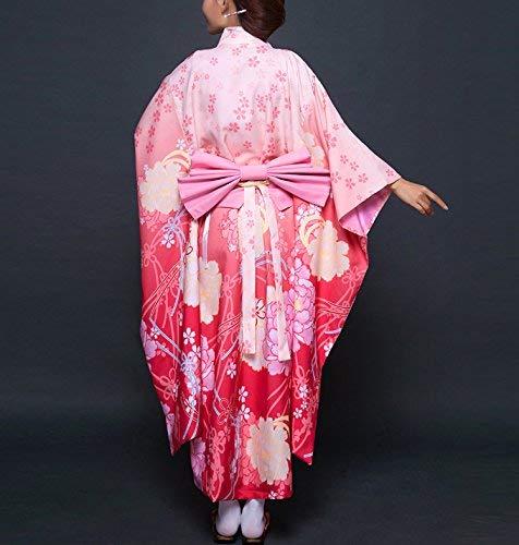 Mujeres Kimono Vintage Poliéster Y Patrón Arco Damas Battercake Elegante Casuales Floral Decoración Albornoz Farbe1 Camisón BC04EqA