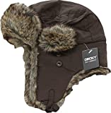 Decky 777-PL-BRN-07 Aviator Hats44; Brown - Large & Extra Large