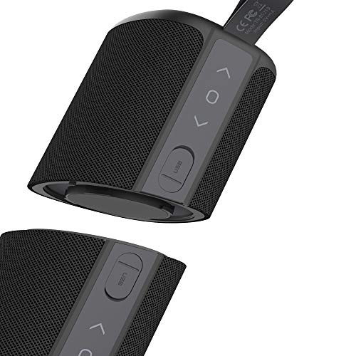 Kove Commuter 2.0 Portable Bluetooth Speaker – Wireless, Splash Proof Bluetooth 4.2, Sound Speakers, Rechargeable with Built-in Microphone