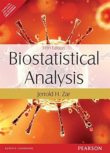Biostatistical Analysis 5th By Jerrold H. Zar (International Economy Edition)