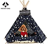 Cheap Yongs Pet Cat Dog Rabbit Teepee with Cushion,Portable Puppy Small Animals Bed Teepee Tent (20×24 inch)