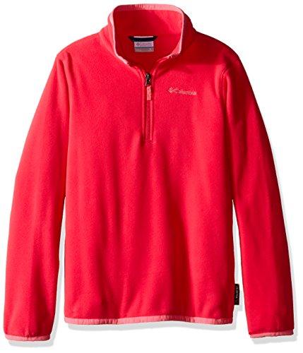 Columbia Youth Ridge Repeat 1.0 Half Zip Fleece Sweater, Medium, Punch Pink