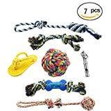 Pet Rope Toys , Dog Toy for Large & Medium & Small Dogs - Indoor and Outdoor Dog Toys , Healthy Teeth Clean Dog Chew Toys (7 PCS)