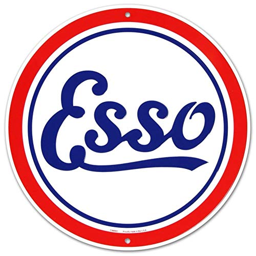 - Esso Oil Gasoline Logo Round Tin Sign11.8 Oils Metal Home Doxie Auto Dixie Marines X Cs60001 Advertising And Underwood Of Stamps The Seal Decor With Sign Esse 12 Yard Vintage Marine Porcelain Inch