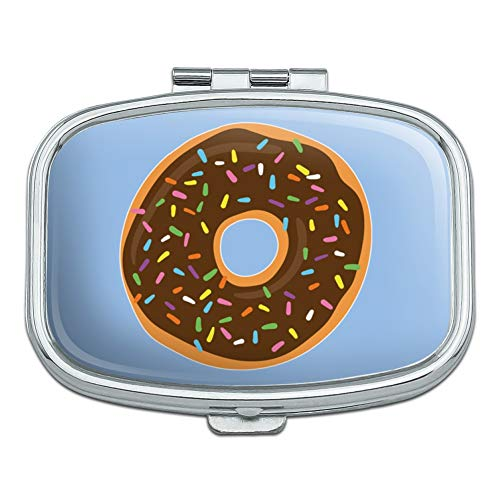 Cute Donut with Sprinkles Chocolate Icing Rectangle Pill