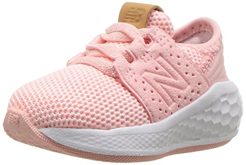 New Balance Girls' Cruz V2 Fresh Foam Running Shoe, Himalayan Pink, 3 M US Infant