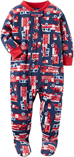 Carter's Baby Boys' 12M-24M One Piece Firetruck Fleece PJS 24 - Sale Online Designer Warehouse