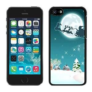 2014 Latest Iphone 5C TPU Case Santa Claus Christmas Black iPhone 5C Case 1