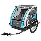 Sunlite Hard Shell Deluxe Trailer Tot Bicycle Trailer - Blue/Grey - T-4