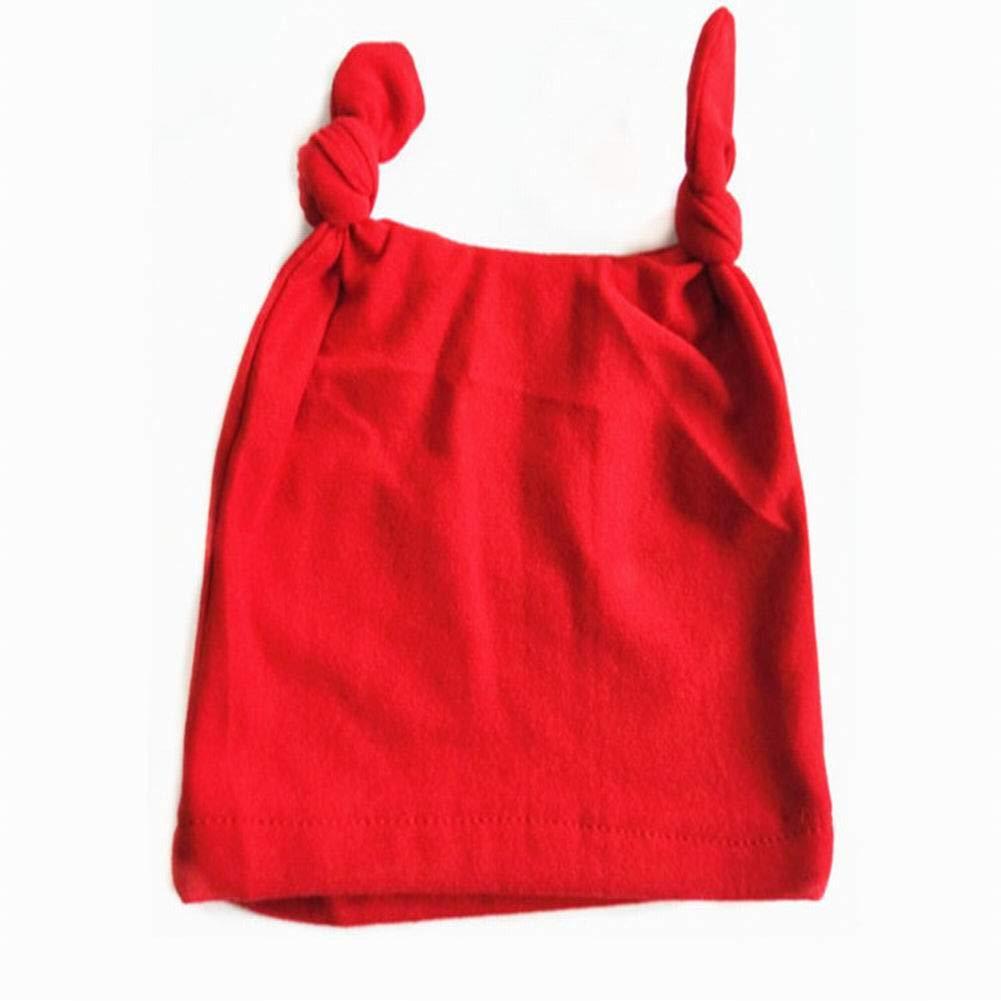 PoeHXtyy Cappellino accessorio del turbante del neonato del berretto da baseball dei cappucci di cotone del bambino di colore puro del bambino