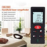 40 m Laser rangefinder with Bubble Level and Battery IP54 Waterproof Equipment Area Volume Pythagorean Continuous Measurement Digital Measurement Tool