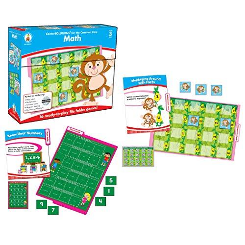 Carson-Dellosa CD-140308 Math File Folder Game, Grade 3, 16 Games, 21 Sheets of Cards (Pack of 37) (Games File Third Folder Grade)