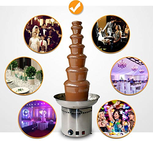 Intbuying 110V Electrics 7 Tier Mini Best Chocolate Fondue Fountain for Sale To Buy Home -